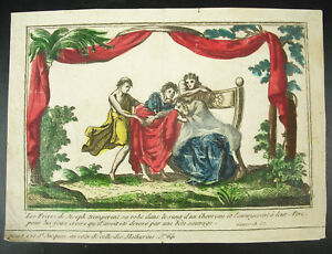 Engraving-18th-La-Bible-all-Freres-of-Joseph-Trempent-the-Dress-in-of-Blood-Of
