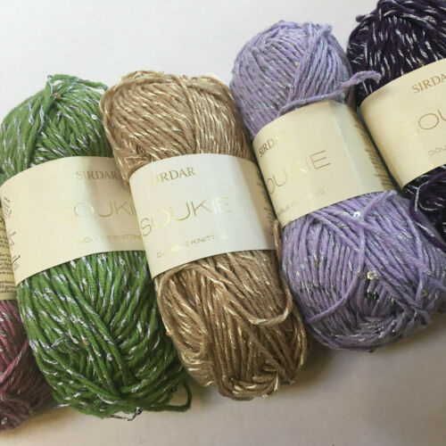Knitting Yarn ~ Sirdar Soukie DK ~ 50g balls assorted shades to clear,