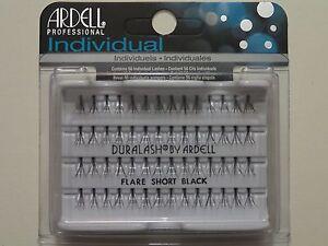 LOT-OF-72-Ardell-Duralash-FLARE-Short-Individual-Lashes-Ardell-Eyelashes-Black