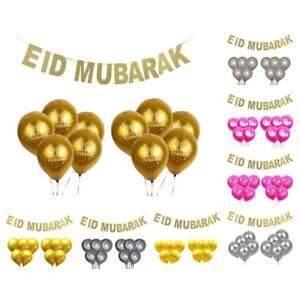 11pcs-EID-MUBARAK-Balloons-Gold-Glitter-Banner-Muslim-Ramadan-Decoration-NEW