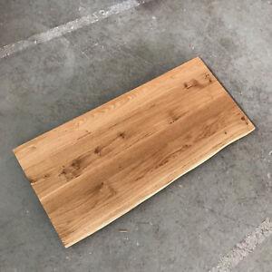 tischplatte platte eiche massiv holz neu tisch brett leimholz mit baumkante ebay. Black Bedroom Furniture Sets. Home Design Ideas