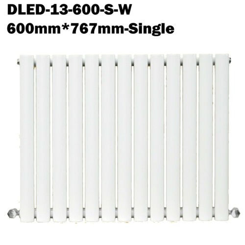 Designer Radiator Horizontal White Oval Panel Rad Heat Central Heating All Room