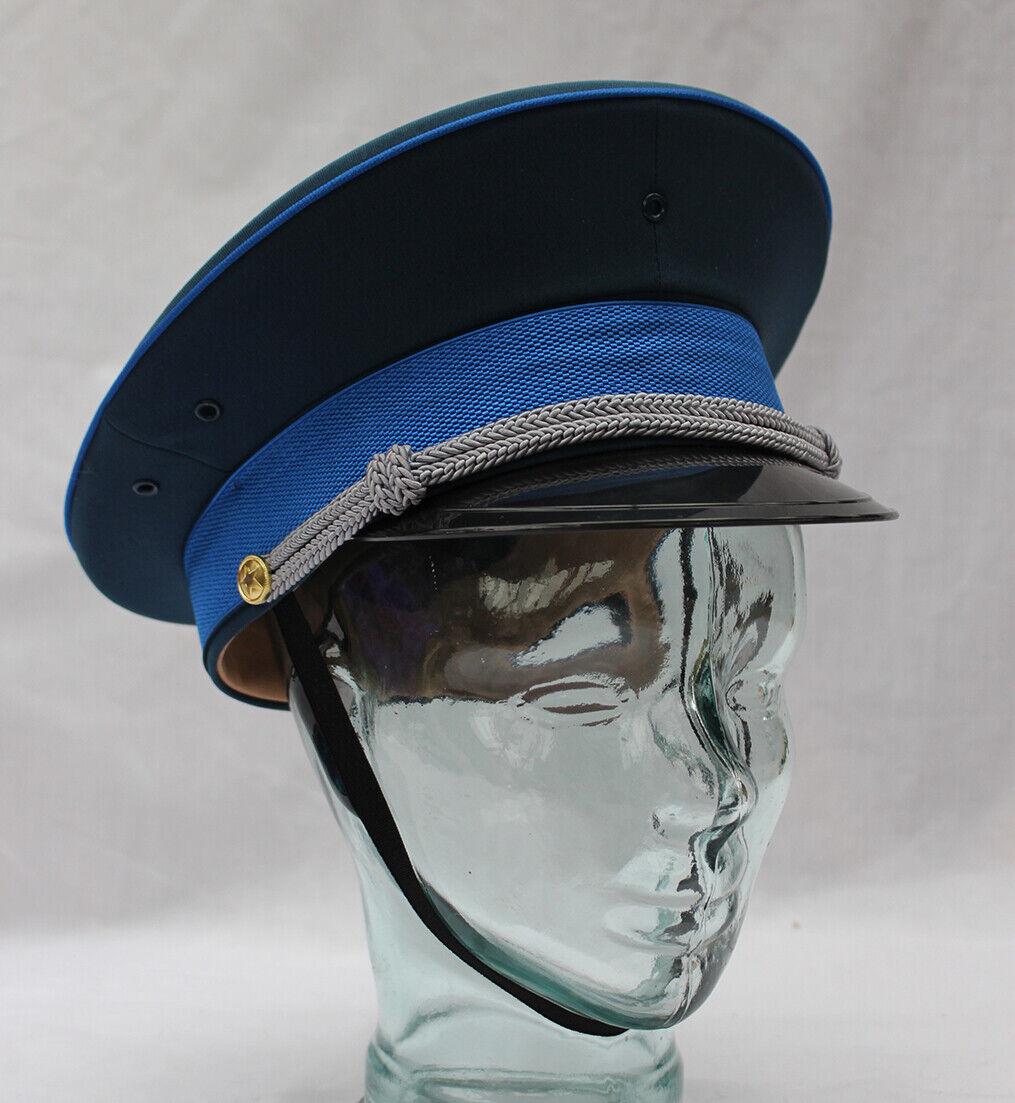 Sombrero azul marino estilo militar con banda de cinta-Grande