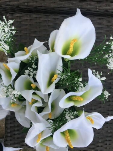 3 X BUNCHES IMITATION CALLA LILY FLOWERS ARTIFICIAL FLOWERS