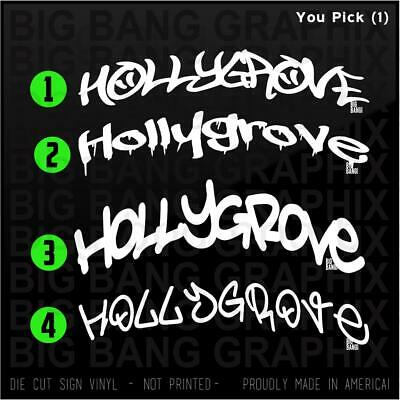 Hollygrove LA Decal Sticker Home Louisiana State City Graffiti Car Window Vinyl