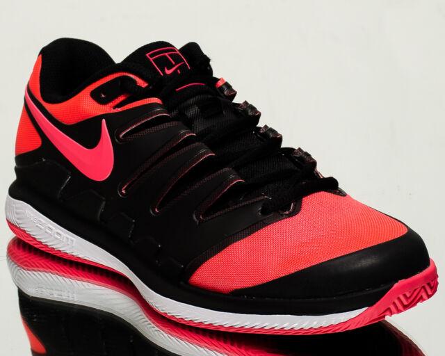c95d1effef38 Nike Air Zoom Vapor X Clay men tennis shoes NEW black solar red white  AA8021-