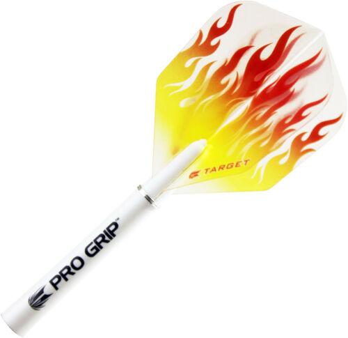12 TARGET Dart Flights Dartflights Dartflys Flys Standard No6 Flammen 100 my