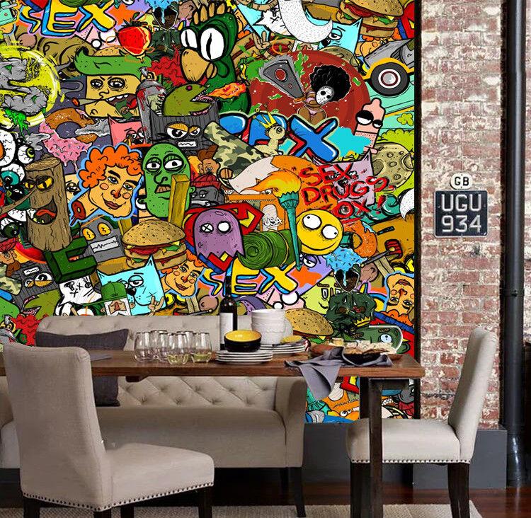 3D Cartoon Tiere 63 Tapete Tapeten Mauer Foto Familie Tapete Wandgemälde DE
