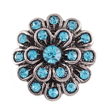 Hot Rhinestone Drill Snaps Chunk Charm Button Fit Noosa Leather Bracelets N.122