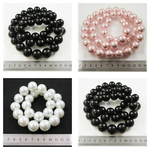 1-STRING-GLASS-PEARL-BEADS-18-amp-20mm-SLIGHTLY-DAMAGED-REDUCED-PRICE-BEADING