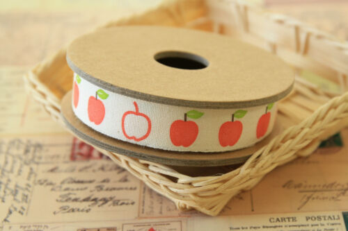 Cinta De Costura manzanas 3m Zakka Craft Supplies Tela del ajuste Shabby Chic cinta de algodón