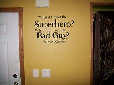 Superhero Twilight book, wall decor vinyl sticker decal
