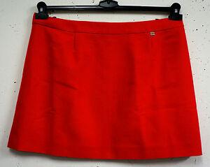 NEU-eleganter-Damen-Mini-Wollrock-mit-Kaschmir-in-orange-rot-Gr-46