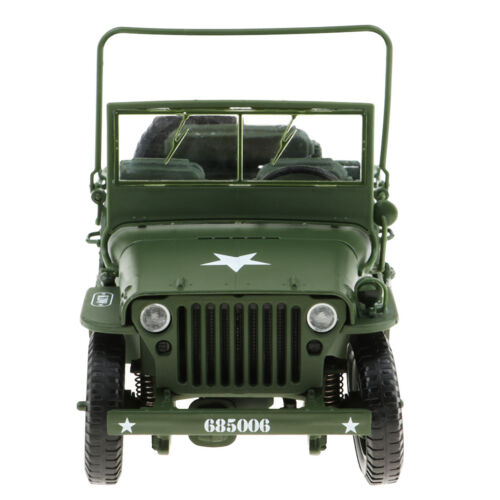 New 1//18 Scale Jeep Willys Diecast Model Military US Army Vehicle