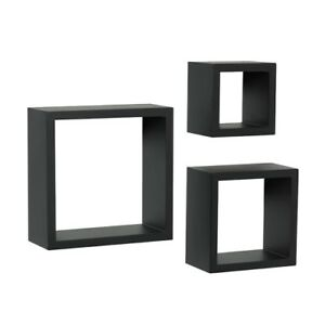 Shelf-Made 3-Piece Decorative Shadow Box Set, Black