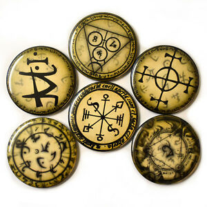 Alchemy-Symbols-Fridge-Magnets-Set-55mm-6pc-Pagan-Occult-Chemistry-Decor-Gift