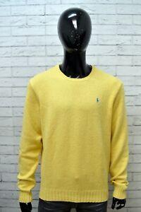 RALPH-LAUREN-Maglione-Uomo-Taglia-XL-Pullover-Felpa-Sweater-Man-Cardigan-Cotone
