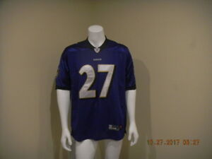 on sale eb308 bbc9e Details about REEBOK Purple RAY RICE #27 NFL Player Baltimore Ravens  STITCHED Jersey Size 48