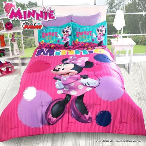 Disney Minnie Mouse Fashion Pink Purple Comforter Set New Girl Bedding by Intima