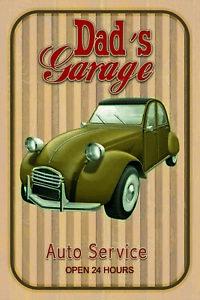 Dad-039-s-Garage-Car-Service-Tin-Sign-Shield-Arched-Tin-Sign-20-x-30-cm-CC0966