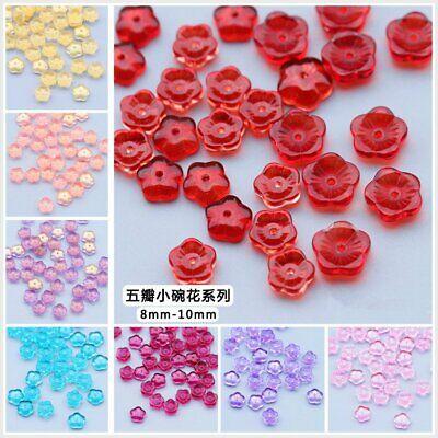 CHOOSE COLOR 50Pcs 11mm Czech Glass Osmanthus Petals Pressed Beads DIY HH6732