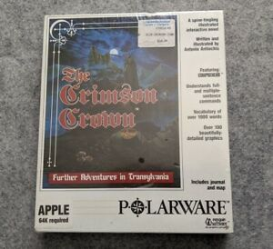 NEW-Transylvania-II-The-Crimson-Crown-Apple-II-Polarware-penguin-computer-game