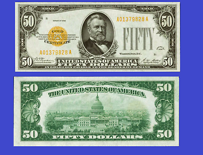 USA 1000 DOLLARS 1928 GOLD CERTIFICATE UNC Reproduction