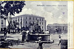 BATTIPAGLIA-fontana-pubblica-piazza-Turco-viaggiata-1910-circa-Salerno