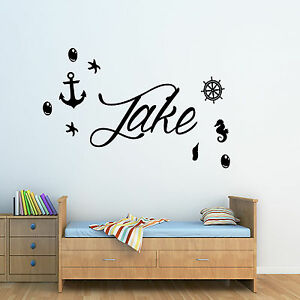 HonnêTeté Personnalisé Marin/ancre/navires Roue/pirate Wall Art Autocollant-salle De Bain-r/ships Wheel/pirate Wall Art Sticker - Bathroom Fr-fr Afficher Le Titre D'origine