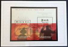 BRD 2004 1 Briefmarkenblock 65 Klassisches Theater Wilh. Tell, Faust MiNr 2391-2