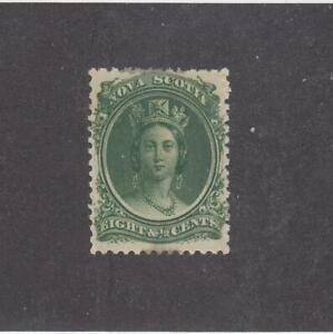 NOVA-SCOTIA-MK4564-11-FVF-MNH-8-1-2cts-1860-63-VICTORIA-GREEN-CAT-VAL-34