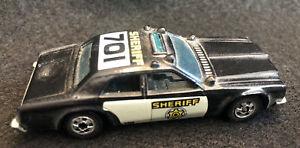 Vintage Hot Wheels Sheriff 701 Patrol Car Black 1977 Malaysia