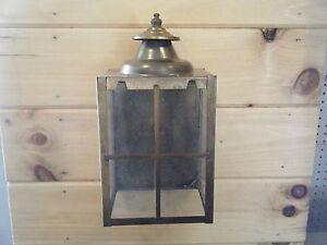 nib vintage solid brass light fixture sconce wall porch 70s antique