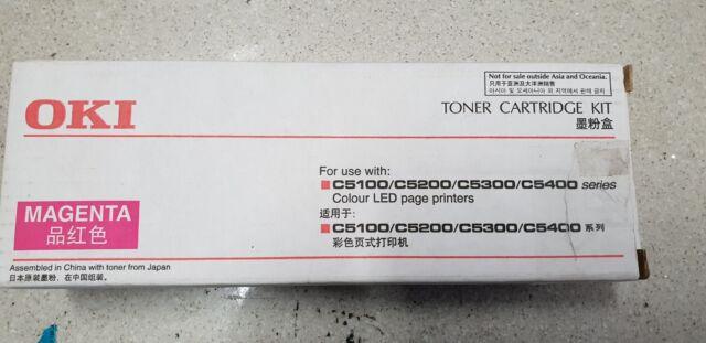 Genuine OKI 42127410 for C5100 C5200 C5300 C5400 Magenta Toner Cartridge