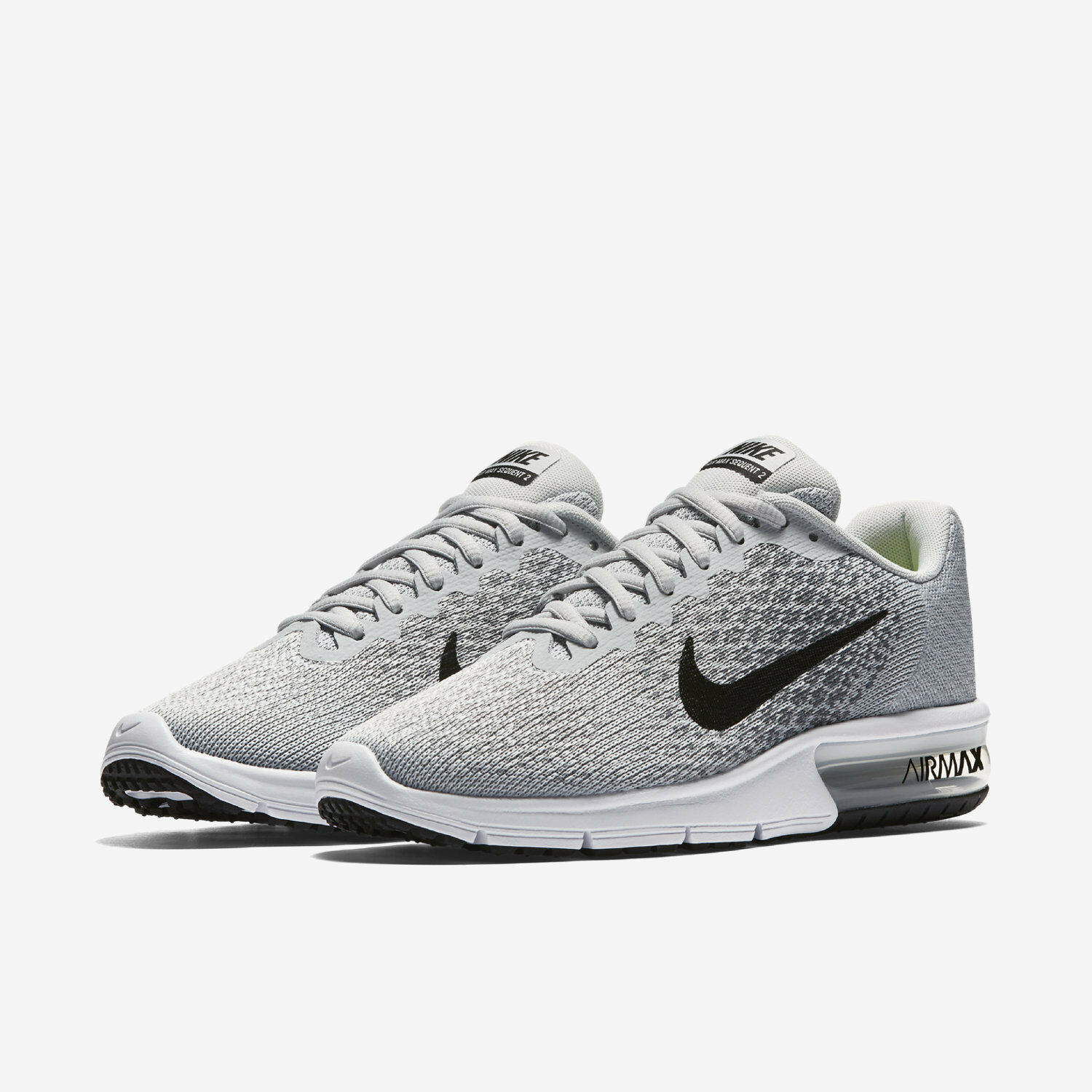 NIB Men's Nike Air Max Sequent 2 Running shoes Choose Size Wht Gry