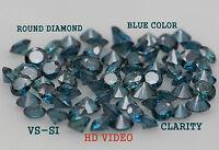 Natural Loose Diamond Round Shape Blue Color 1.55 to 2.05 MM VS-SI ( 15 pcs ) K5
