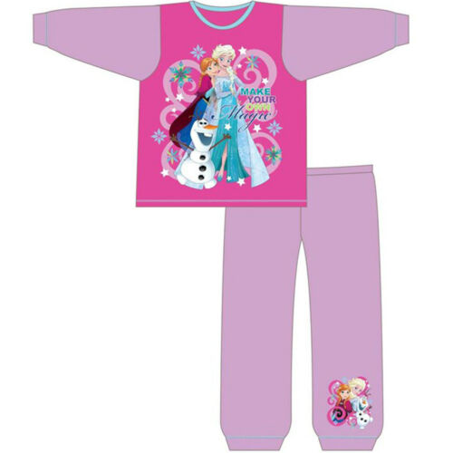 Kids Girls Official Disney Frozen Pyjamas Character Pyjama PJ Set 12M-4Y