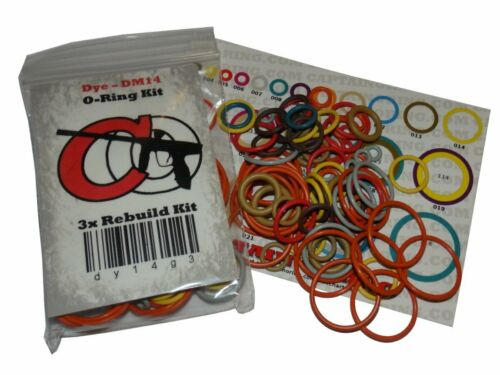 Dye M3s//M3+ Color Coded 3X Oring Rebuild Kit