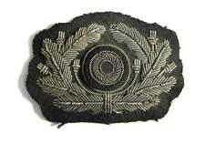 WW2 German Army Officers Aluminium Bullion Heer Cap Wreath Cockade Visor Aged