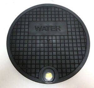 """Nicor Type A Water Meter Box Cover, 12.25"""" Polymer Lid, fits 11.25"""" I.D. Ring"""