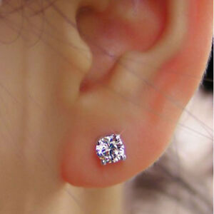 Image Is Loading 1 00 Ct Round Cut Solitaire Diamond Earring