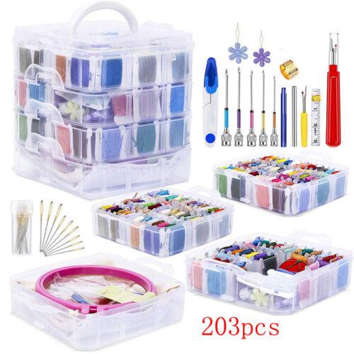 Magic Embroidery Pen Stitching Punch Needles DIY Cross Stitch Floss Threads Kits