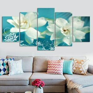 Home Decor Picture Abstract Fantasy Flowers Canvas Prints Painting Wall Art 5PCS