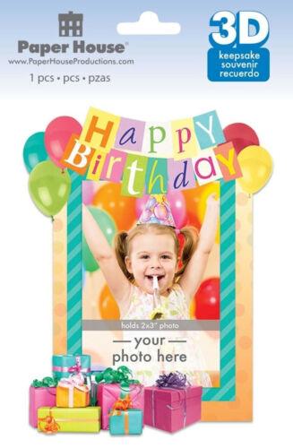 Paper House HAPPY BIRTHDAY 3-D KEEPSAKE STICKER EMBELLISHMENT scrapbooking
