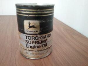 Vtg John Deere Torq - Gard Supreme Engine Oil 1 US Qt  Quart SAE