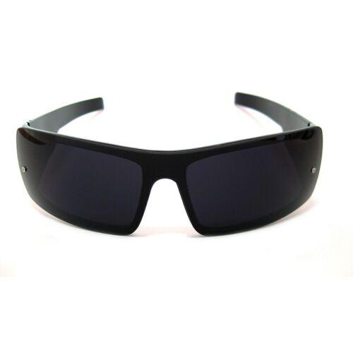 Black /& White Men/'s Wrap Around Frame Stylish 1 Piece Lens Locs Sunglasses