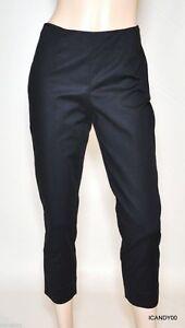 Capri cotone scuro 6 Nwt eleganti Leola Pantaloni Blu in Tahari elasticizzato w6wq0Sx1T