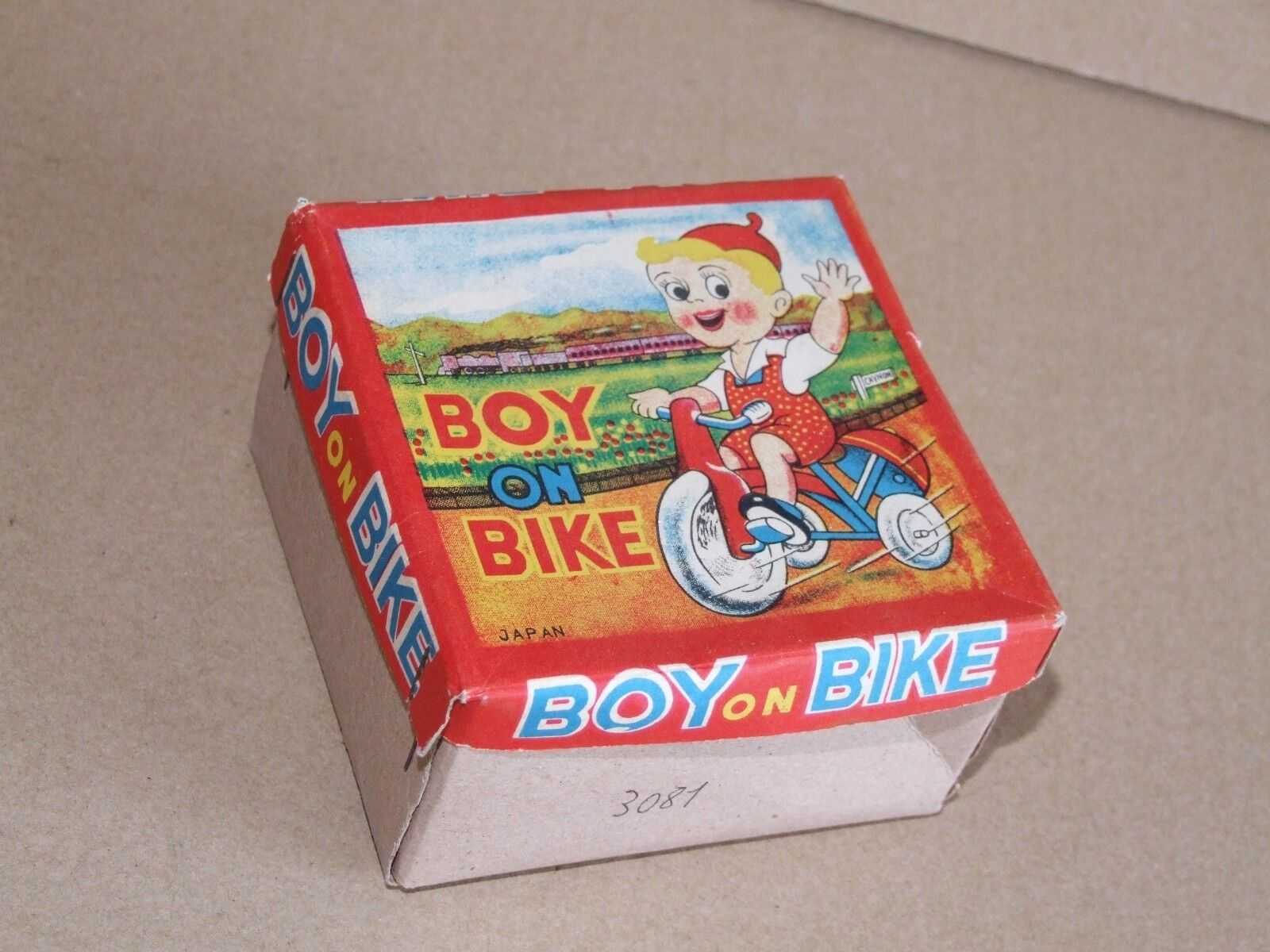 Boy on a Bike Celluloid - Boxed - Japan