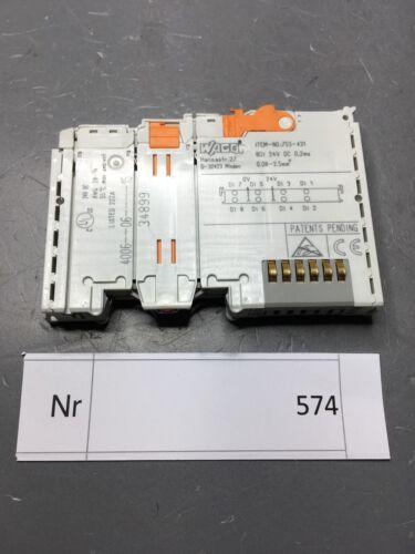 Wago 8 Kanal Digital Eingangsmodul   8DI 24V DC 0,2ms    Nr 753-431