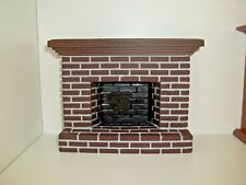 Dollhouse Furniture Accessories Small Brick Fireplace Ym0217sm